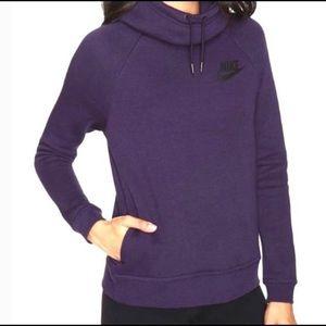 Nike Purple Funnel Neck Hoodie